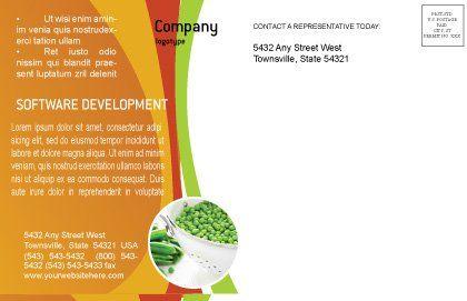 Vegetarian Food Postcard Template Inner Page