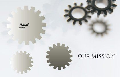 Gears Postcard Template, Outer Page, 02605, Utilities/Industrial — PoweredTemplate.com