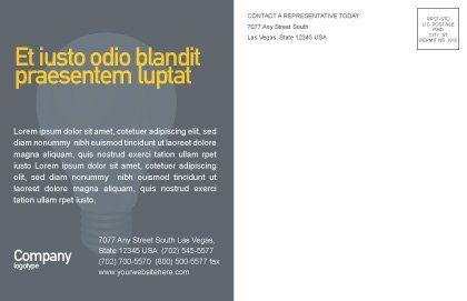 Make Money Postcard Template, Inner Page, 02696, Business Concepts — PoweredTemplate.com