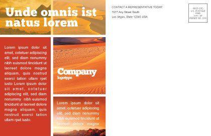 Red Desert Postcard Template, Inner Page, 02728, Nature & Environment — PoweredTemplate.com