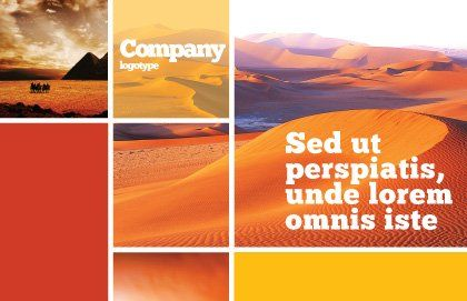Red Desert Postcard Template, Outer Page, 02728, Nature & Environment — PoweredTemplate.com