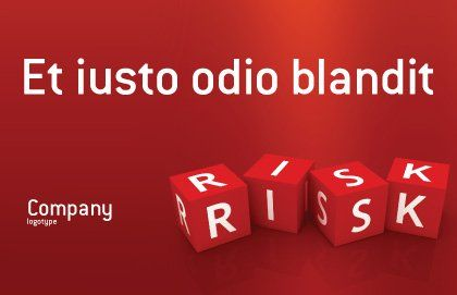 Red Risk Cubes Postcard Template, Outer Page, 02837, Business — PoweredTemplate.com