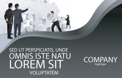 Brainstorm Postcard Template, Outer Page, 02856, Business Concepts — PoweredTemplate.com