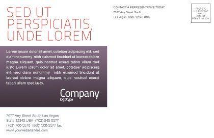 Fancy Jigsaw Postcard Template, Inner Page, 02895, Business Concepts — PoweredTemplate.com