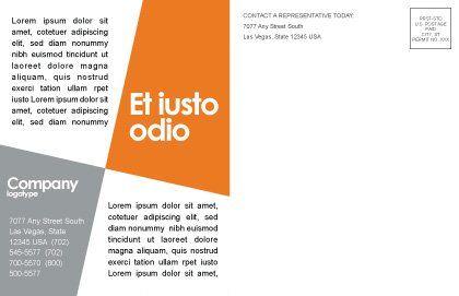 Dark Blue Diagram Postcard Template, Inner Page, 02906, Financial/Accounting — PoweredTemplate.com