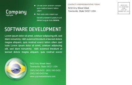 Brazil Sign Postcard Template, Inner Page, 02926, Flags/International — PoweredTemplate.com