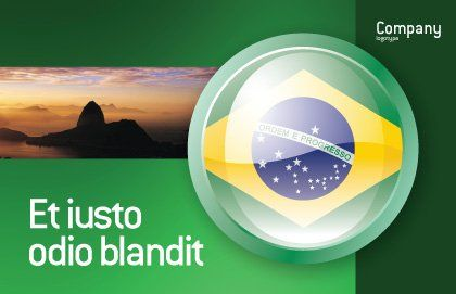 Brazil Sign Postcard Template, Outer Page, 02926, Flags/International — PoweredTemplate.com
