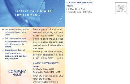 World Business Postcard Template, Inner Page, 02927, Global — PoweredTemplate.com