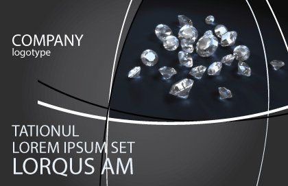 Diamonds Postcard Template Outer Page