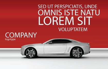 Supercar Postcard Template Outer Page