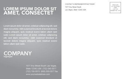 Building Plot Postcard Template, Inner Page, 02967, Construction — PoweredTemplate.com