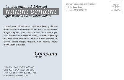 Stars Postcard Template, Inner Page, 03006, Careers/Industry — PoweredTemplate.com