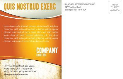 Boxing Gloves Postcard Template, Inner Page, 03113, Sports — PoweredTemplate.com