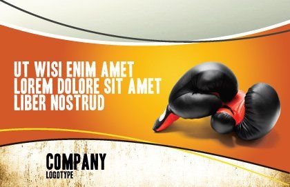 Boxing Gloves Postcard Template, Outer Page, 03113, Sports — PoweredTemplate.com