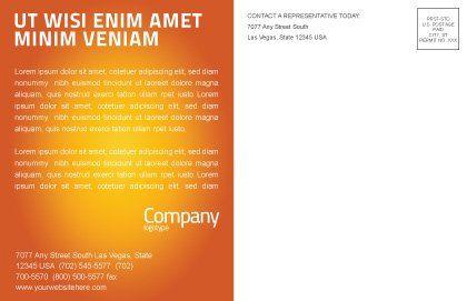 Understanding Postcard Template, Inner Page, 03131, Business — PoweredTemplate.com