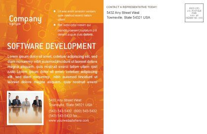 Wide World Business Postcard Template, Inner Page, 03159, Global — PoweredTemplate.com