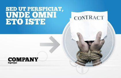 Contract Postcard Template, Outer Page, 03181, Legal — PoweredTemplate.com
