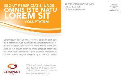 Unity Postcard Template, Inner Page, 03214, Business — PoweredTemplate.com