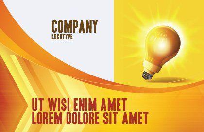 Bright Idea Postcard Template, Outer Page, 03307, Business Concepts — PoweredTemplate.com