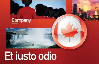Canada Sign Postcard Template Outer Page