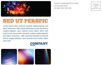 Prism Postcard Template, Inner Page, 03386, Technology, Science & Computers — PoweredTemplate.com