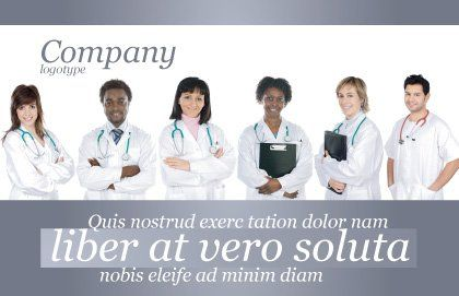 Medical Interns Postcard Template, Outer Page, 03390, Medical — PoweredTemplate.com