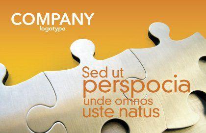 Puzzle Parts Postcard Template, Outer Page, 03435, Business Concepts — PoweredTemplate.com