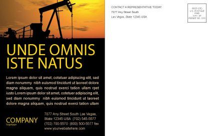 Oil Producer Postcard Template, Inner Page, 03444, Utilities/Industrial — PoweredTemplate.com