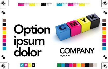 CMYK Postcard Template, Outer Page, 03474, Careers/Industry — PoweredTemplate.com