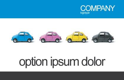 Minicars Postcard Template, Outer Page, 03491, Cars/Transportation — PoweredTemplate.com