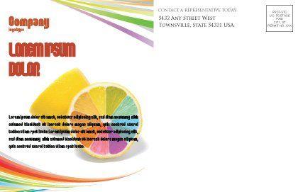 Color Diversity Postcard Template, Inner Page, 03498, Business Concepts — PoweredTemplate.com