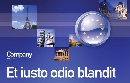 European Union Sign Postcard Template, Outer Page, 03499, Flags/International — PoweredTemplate.com