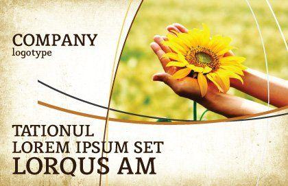Summer Flower Postcard Template, Outer Page, 03501, Abstract/Textures — PoweredTemplate.com