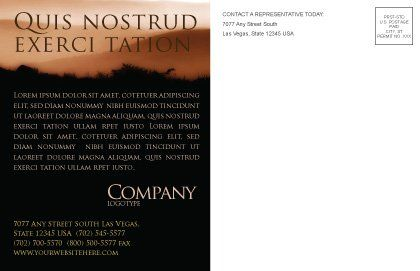 Memento Mori Postcard Template, Inner Page, 03510, Religious/Spiritual — PoweredTemplate.com