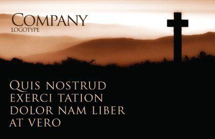 Memento Mori Postcard Template, Outer Page, 03510, Religious/Spiritual — PoweredTemplate.com
