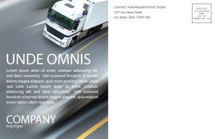 Freight Service Postcard Template, Inner Page, 03527, Cars/Transportation — PoweredTemplate.com