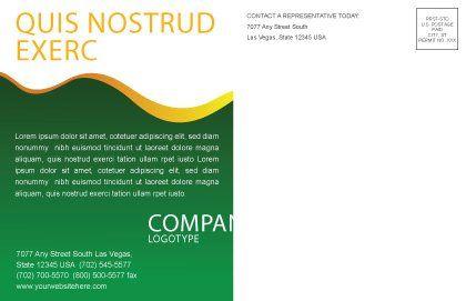 Growing Postcard Template, Inner Page, 03531, Nature & Environment — PoweredTemplate.com