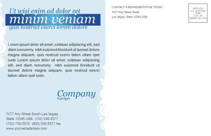 Creativity In Blue Postcard Template, Inner Page, 03561, Business Concepts — PoweredTemplate.com