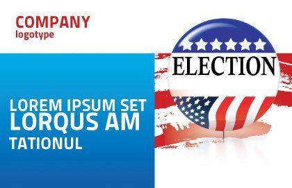 USA Elections Postcard Template, Outer Page, 03595, America — PoweredTemplate.com