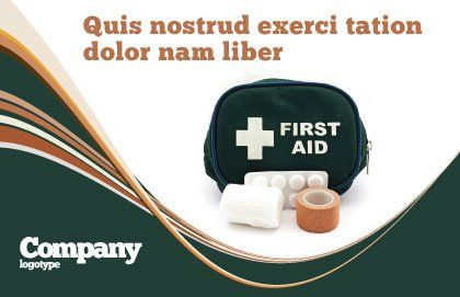 First Aid Set Postcard Template, Outer Page, 03596, Medical — PoweredTemplate.com