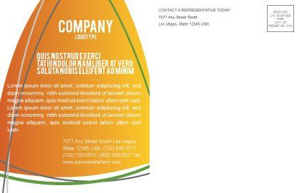 Corn Oil Postcard Template, Inner Page, 03664, Careers/Industry — PoweredTemplate.com