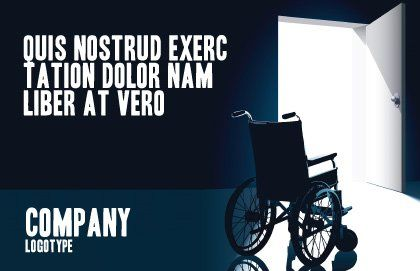 Wheelchair Postcard Template, Outer Page, 03665, Medical — PoweredTemplate.com