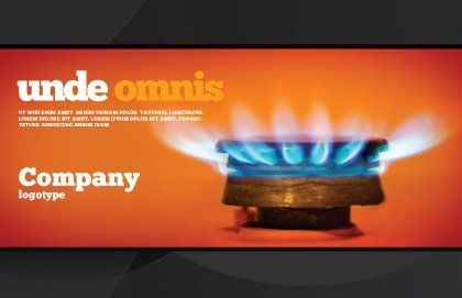 Gas Stove Postcard Template, Outer Page, 03675, Careers/Industry — PoweredTemplate.com