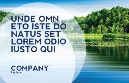 Landscape Postcard Template, Outer Page, 03688, Nature & Environment — PoweredTemplate.com