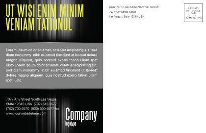 Dialogue Postcard Template, Inner Page, 03826, Business — PoweredTemplate.com