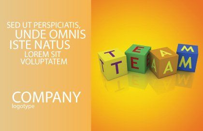 Team Postcard Template, Outer Page, 03855, Business Concepts — PoweredTemplate.com