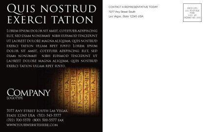 Egyptian hieroglyphs postcard template in microsoft word for Egypt brochure templates