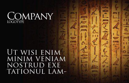 Egyptian Hieroglyphs Postcard Template, Outer Page, 03864, Religious/Spiritual — PoweredTemplate.com