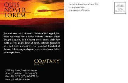 Sunset Postcard Template, Inner Page, 03871, Nature & Environment — PoweredTemplate.com