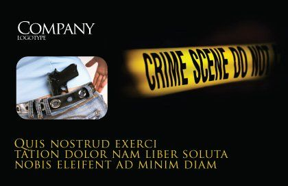 Crime Scene Postcard Template, Outer Page, 03883, Legal — PoweredTemplate.com